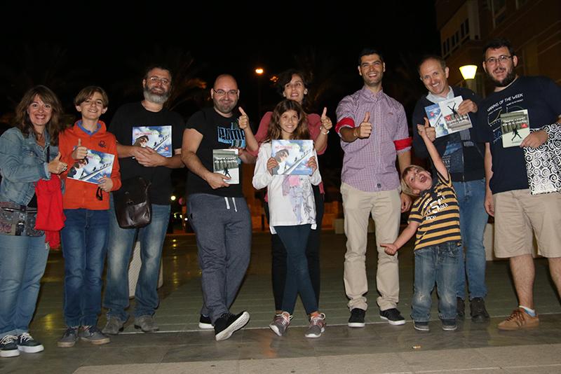 Ramón y tecnólogos del colectivo HackLab Almería