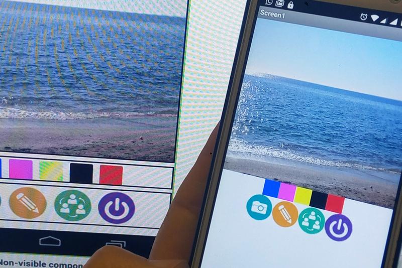 Diseñando aplicación móvil con AppInventor
